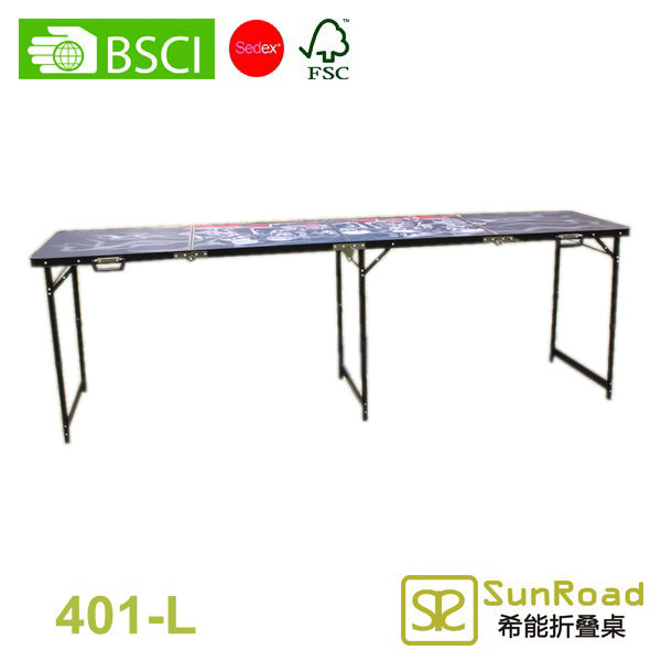 2 Sections (2) aluminum fodling wallpaper pasting table