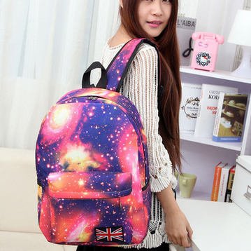 High Quality Floral Ladies Canvas Bag Fashion Women School Backpack Waterproof Floral Tote Bag