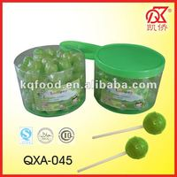 11g Green Apple Flavour Candies And Lollipops