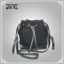 New Fashion 2014 Flannel Fabric drawstring handbag