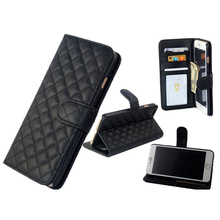 Hot Selling Senior Protective Folder Card Flip Case For iPhone 6 Luxury Leather Case
