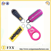 Eco-friendly custom plastic zipper puller tabs