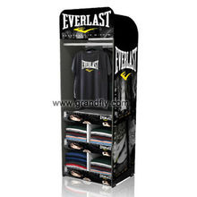 T-Shirt Clothing Cardboard Temporary Display Stand, T-shirt Floor Cardboard display Rack
