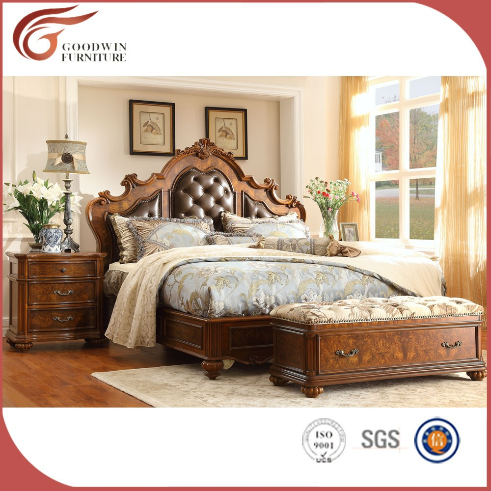 <strong>Wood</strong> carving classical bedroom furniture WA154