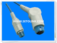 Compatible for HP spo2 extension cable,compatible M1941A Extension/adapter cable,12pin>>8pin connector