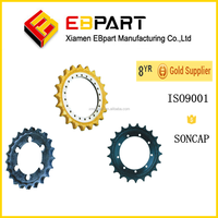 Undercarriage drive roller chain sprockets for excavator