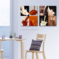 milk and coffee photo cotton canvas painting
