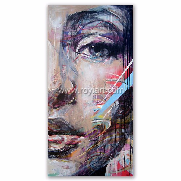 2016 Latest Design Art Work Painting Modern Figure Canvas Art for Wall Decor
