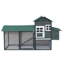 chinese professional green color cheap wooden chicken coop for laying hen for sale