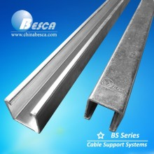 UL CE Electrical Hot Dip Galvanized Not Slotted Strut Channel Supplier