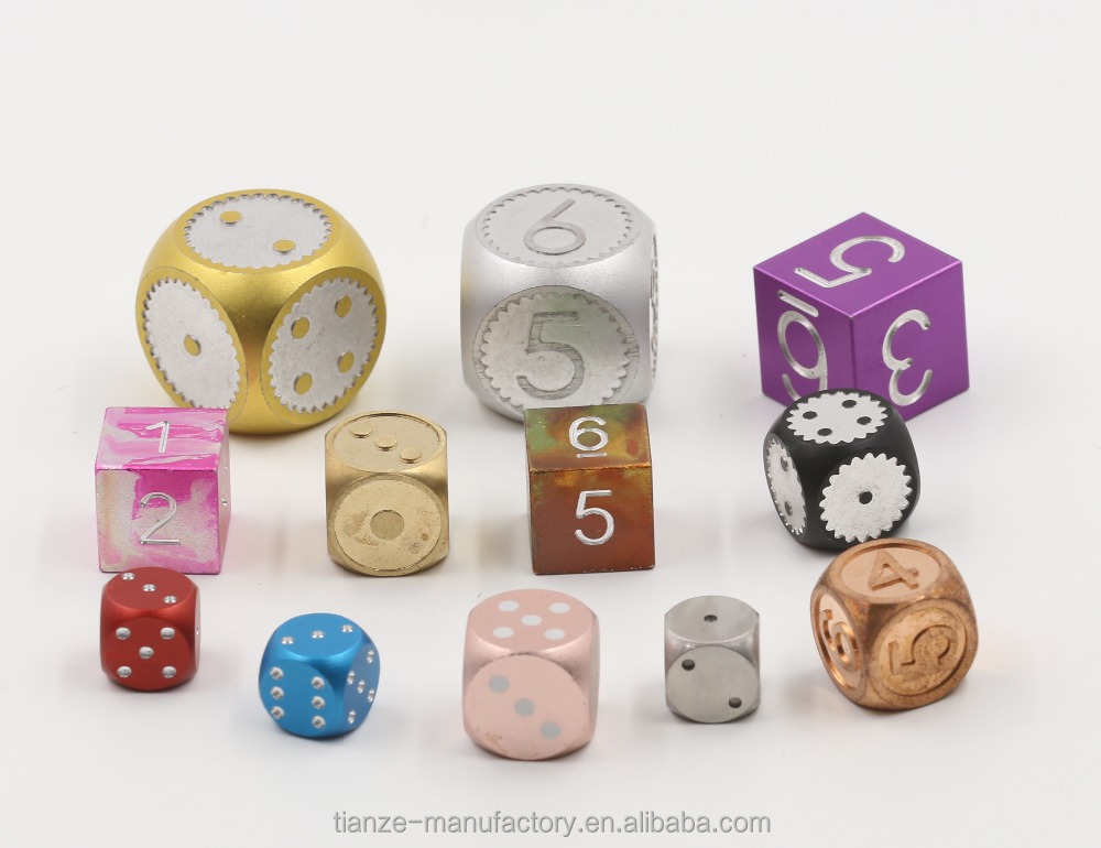 Metal dice set polyhedral D4 D6 D8 <strong>D10</strong> D12 D20 custom