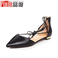 Low Heel Lace-up Latest Handmade Shoes Ballet Flats manufacture in China