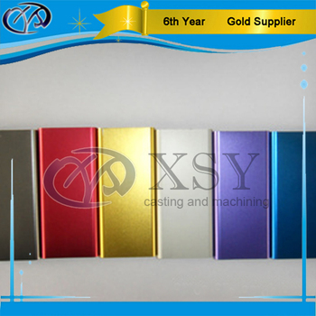 cnc milling Al7075 color anodized aluminum sheet for electric parts