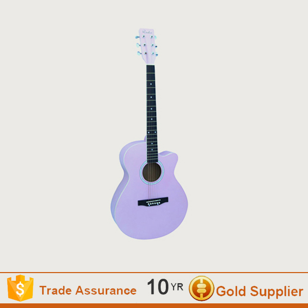 Round back solld wood acoustic guitar