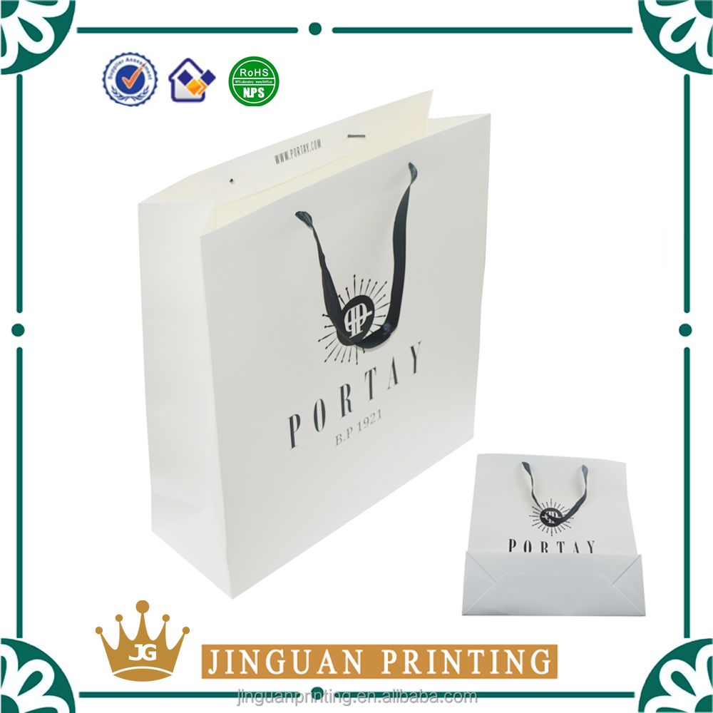 Custom printing shopping apparel gift paper pack luxury cloth packaging paper bag