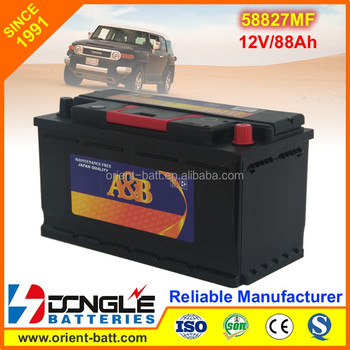 58827MF 12V88Ah Power Certer Auto Electrical System For Car