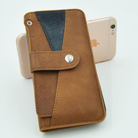 For iphone 6 case smartphone leather cell phone case with removable card slot