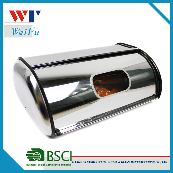 2016 stainless steel bread box with window