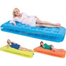 Bestway Comfort Quest Fashion transparent pvc Flocked Air Bed - Inflatable Single Sized Air Mattress - Orange/yellow/blue