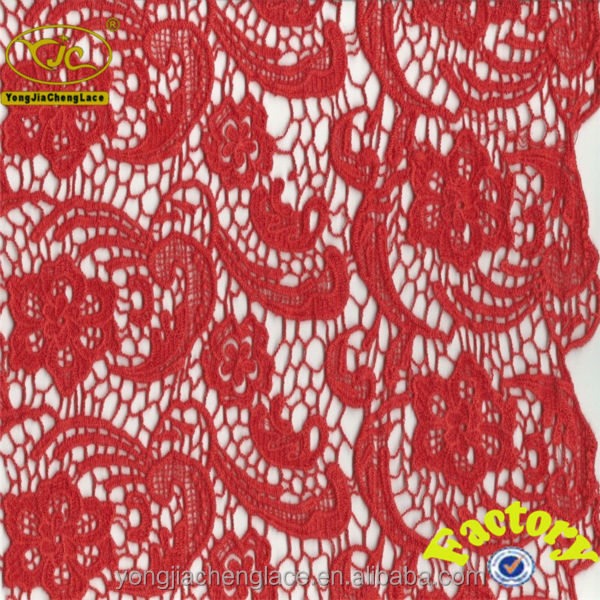 YJC8454 Fashion cord embroidered bridal fabric lace as customer design