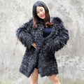 CX-G-A-180C 2017 Fashion Women Winter Jacket, Women Raccoon Fur Coat For Wholesale