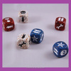 Customized Engraved Speckled Dices