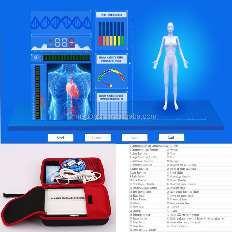 2016 the latest 5th generation Clinical Analytical Instruments 47 reports mini quantum magnetic resonance body analyzer