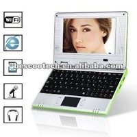 Android 2.2 netbook VIA 8650 WIFI 256MB Notebook MINI Cheapest Laptop support andriod 2.2 OS or CE 6.0 dual systerm