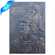 Customized Cheap Printed embossed leather patch label