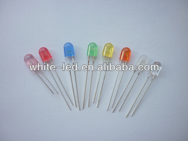 546 oval amber yellow orange red green uv diffused led diode