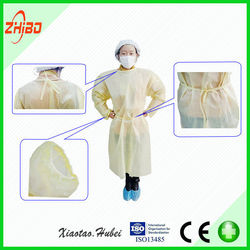 PP/SMS Disposable Nonwoven Clothes/Surgical Gown/Lab Coat/Workwear