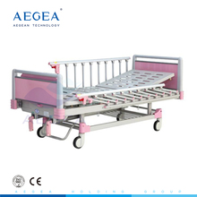 AG-CB012 Two functions movements mechanical cranks control medical child bed for hospital