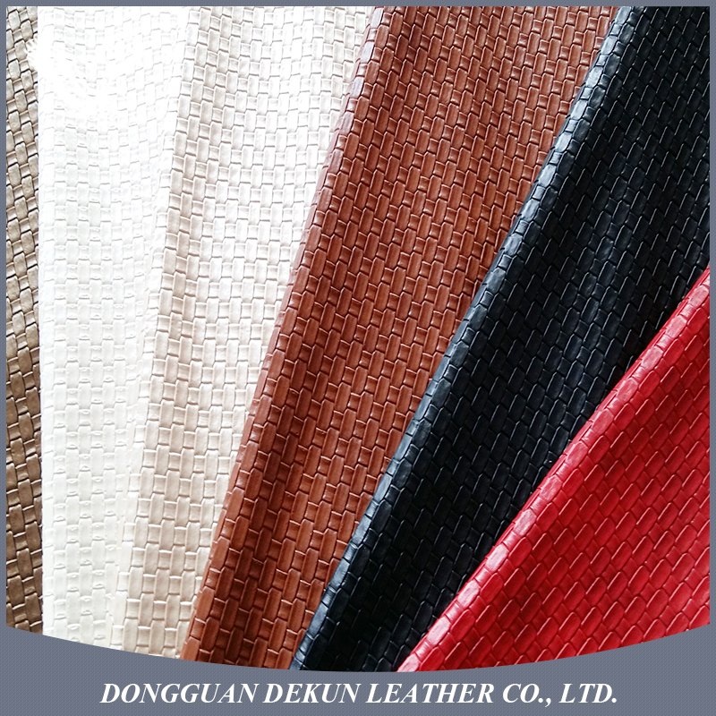 Wholesale factory made polyester decoration pu leather pvc leather
