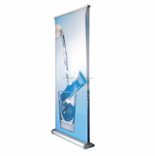Wide base aluminum alloy retractable display roll up banner stand economic roll up stand