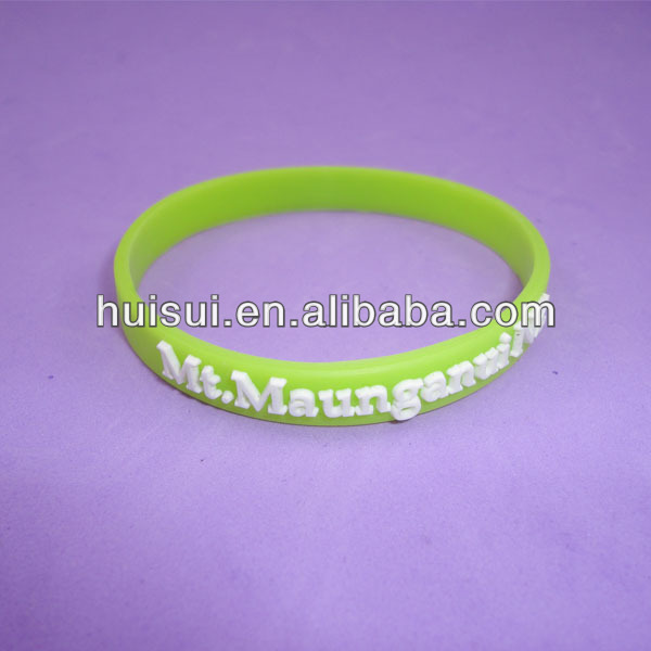 High quality promotional customized silicon bracelet fluorescent