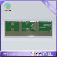 rectangle green grill enamel ABS plastic shine chrome car sign badge