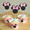 DIY home-made paper printing cartoon polka dots cake molds baking tools cupcake wrapper and topper picks for birthday party
