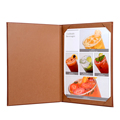 2017 portable leather A4 menu covers custom hotel leather folder menu card holder
