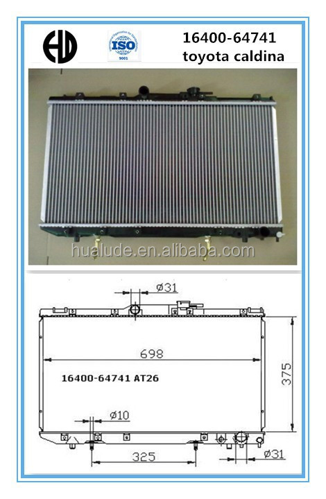2014 hot sale high quality aluminum brazed welding toyota yaris auto radiator