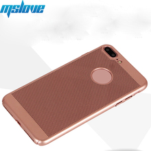 Alibaba Hot Sellers Fashion Thin Hard PC Phone Case Mesh Back Cover Case For iPhone 8 7 Plus
