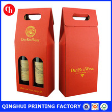 2 bottle corrugated cardboard wine box with dividers