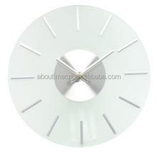 Modern Personalized stained Clear shadow glass wall clock