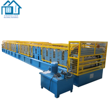Double layer corrugated roofing sheet roll forming machine