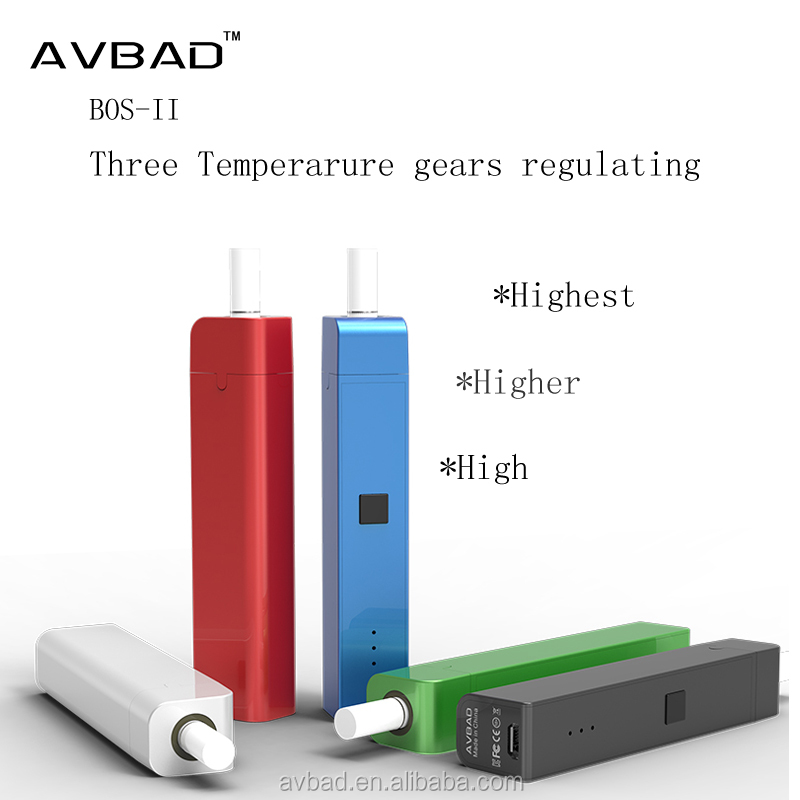 Chinese supplier smoke device ceramic heat pin 900mah heat not burn cigars