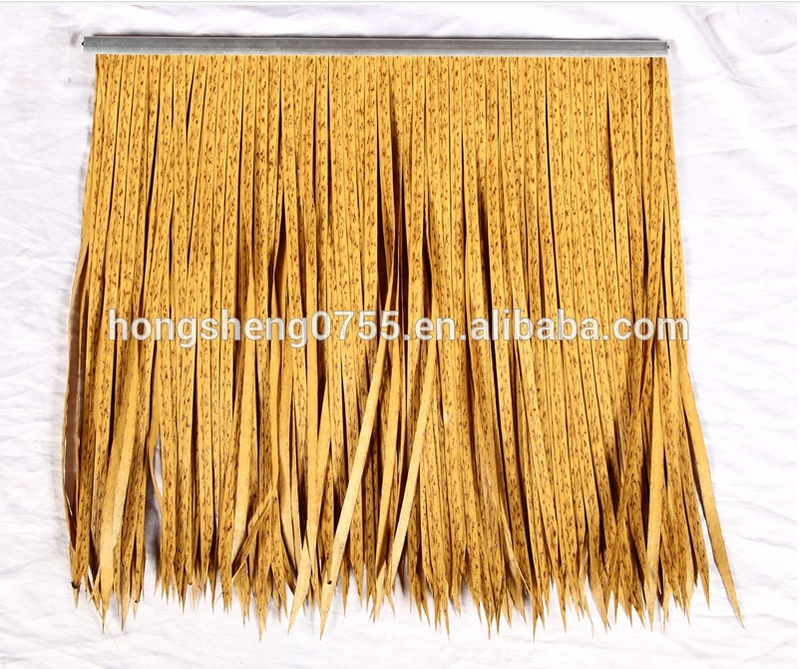 factory supply Hot sale thatched roof tiles/Plain Hollow PE Roof Tiles