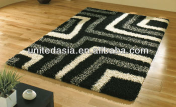 shaggy rugs 1.5m*1.8m with 5mm thickness
