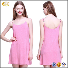Ecoach Girl summer pajamas sleepwear Pink Modal Braces Skirt super Soft Women Pajamas