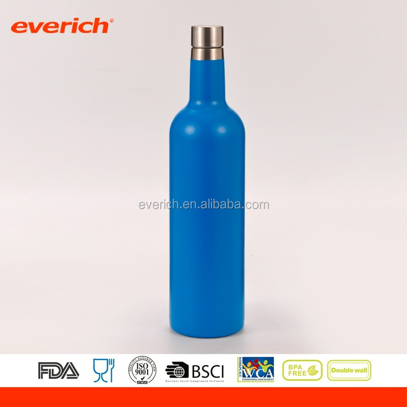 New Designed Double Wall 550ml amber glass bottle wine