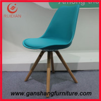 Wholesale comfortable dining chairs cushion tulip leather lounge furniture chair cheap plastic chair