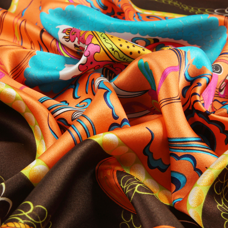 JANUARY KOMA 100% silk custom digital print silk scarf